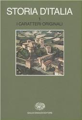 Storia d'Italia. Vol. 1: I caratteri originali.