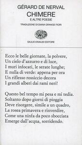 Foto Cover di Chimere e altre poesie, Libro di Gérard de Nerval, edito da Einaudi