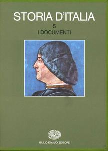 Libro Storia d'Italia. Vol. 5: I documenti.