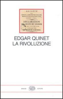 La rivoluzione - Edgar Quinet - copertina