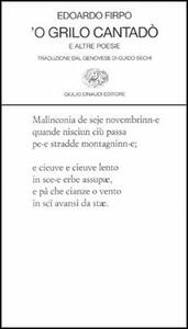 Grillo cantadò e altre poesie ('O) - Edoardo Firpo - copertina