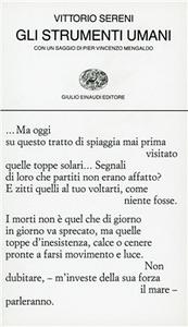 Libro Gli strumenti umani Vittorio Sereni