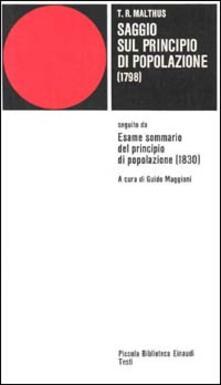Listadelpopolo.it Saggio sul principio di popolazione (1798) Image