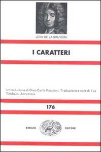 I caratteri - Jean de La Bruyère - copertina