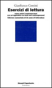 Esercizi di lettura sopra autori contemporanei - Gianfranco Contini - copertina