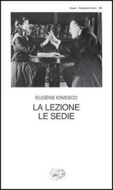 La lezione-Le sedie - Eugène Ionesco - copertina