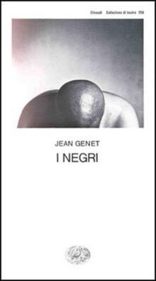 I negri - Jean Genet - copertina