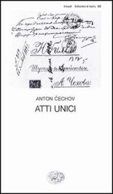Atti unici - Anton Cechov - copertina