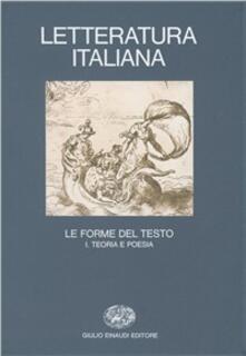 Osteriacasadimare.it Letteratura italiana. Vol. 3\1: Le forme del testo. Teoria e poesia. Image