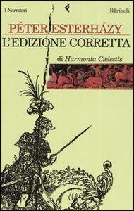 Libro L' edizione corretta di Harmonia caelestis Péter Esterházy