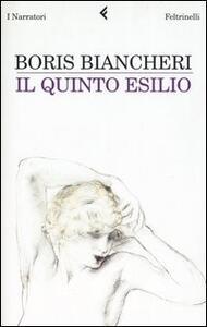 Il quinto esilio - Boris Biancheri - copertina