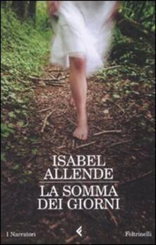 La somma dei giorni - Isabel Allende - copertina