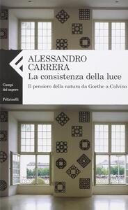 La consistenza della luce. Il pensiero della natura da Goethe a Calvino - Alessandro Carrera - copertina