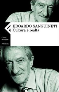 Libro Cultura e realtà Edoardo Sanguineti
