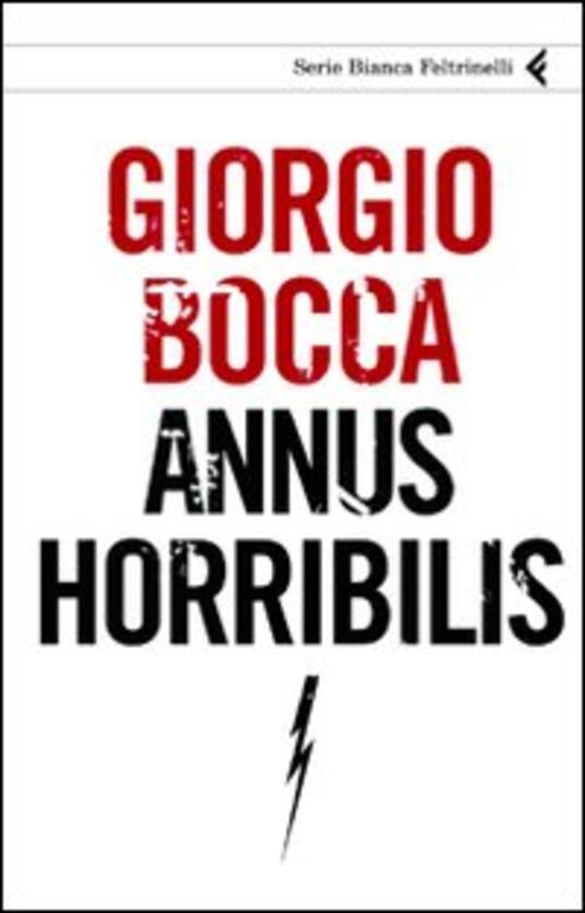 Annus horribilis - Giorgio Bocca - copertina