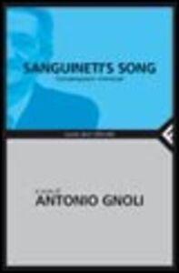 Libro Sanguineti's song. Conversazioni immorali