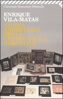 Storia abbreviata della letteratura portatile - Enrique Vila-Matas - copertina