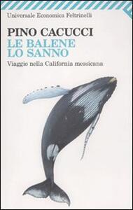 Le balene lo sanno. Viaggio nella California messicana - Pino Cacucci - copertina