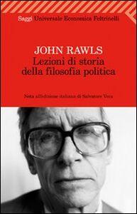 Foto Cover di Lezioni di storia della filosofia politica, Libro di John Rawls, edito da Feltrinelli
