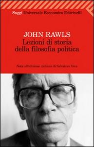 Libro Lezioni di storia della filosofia politica John Rawls