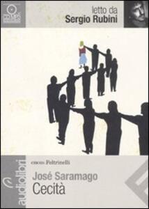 Cecità letto da Sergio Rubini. Audiolibro. CD Audio formato MP3 - José Saramago - copertina
