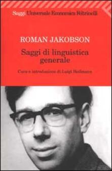 Saggi di linguistica generale - Roman Jakobson - copertina