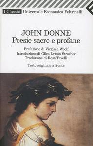 Libro Poesie sacre e profane. Testo originale a fronte John Donne
