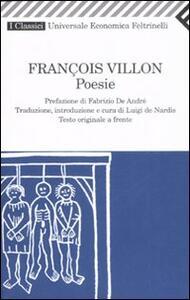 Poesie. Testo francese a fronte - François Villon - copertina