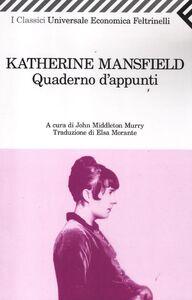 Foto Cover di Quaderno d'appunti, Libro di Katherine Mansfield, edito da Feltrinelli