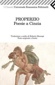 Libro Poesie a Cinzia. Testo latino a fronte Sesto Properzio