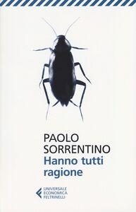 Libro Hanno tutti ragione Paolo Sorrentino