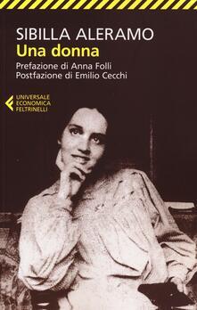 Una donna - Sibilla Aleramo - copertina