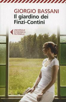 Il giardino dei Finzi-Contini - Giorgio Bassani - copertina