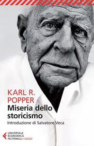 Miseria dello storicismo - Karl R. Popper - copertina