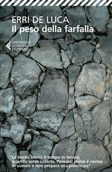 Il peso della farfalla - Erri De Luca - copertina