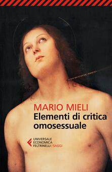 Elementi di critica omosessuale - Mario Mieli - copertina