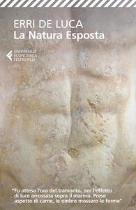 La natura esposta - Erri De Luca - copertina