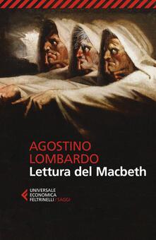 Lettura del Macbeth - Agostino Lombardo - copertina