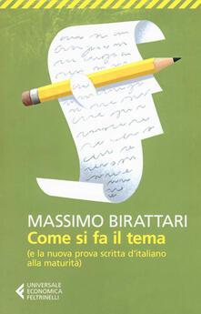 Voluntariadobaleares2014.es Come si fa il tema. (E la nuova prova scritta d'italiano alla maturità) Image
