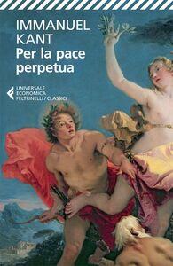 Libro Per la pace perpetua Immanuel Kant