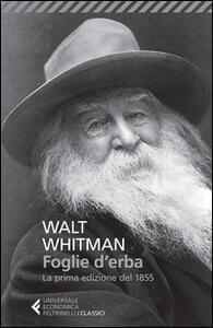 Foglie d'erba. Testo inglese a fronte - Walt Whitman - copertina