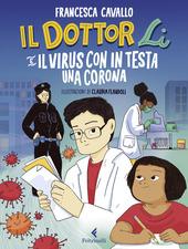 Copertina  Il dottor Li e il virus con la corona in testa