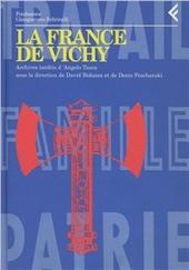 Annali della Fondazione Giangiacomo Feltrinelli (1995). La France de Vichy. Archives inédits d'Angelo Tasca