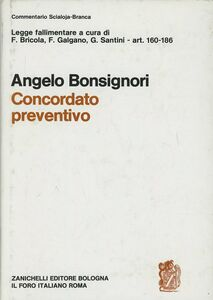 Libro Legge fallimentare. Concordato preventivo (artt. 160-186) Angelo Bonsignori