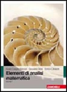 Nicocaradonna.it Elementi di analisi matematica. Vol. 1 Image