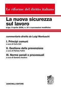 La nuova sicurezza sul lavoro: Principi comuni-Gestione della prevenzione-Norme penali e processuali. Cofanetto - copertina