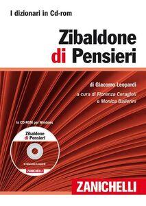 Libro Zibaldone di pensieri. CD-ROM Giacomo Leopardi