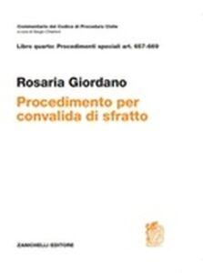 Libro Procedimento per convalida di sfratto. Art. 657-669 Rosaria Giordano