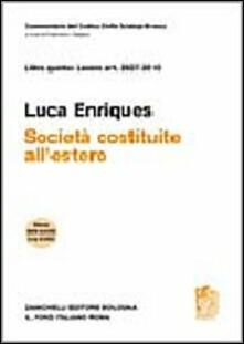 Listadelpopolo.it Commentario del Codice Civile. Art. 2507-2510. Società costituite all'estero Image