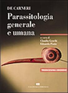 De Carneri. Parassitologia generale e umana - copertina